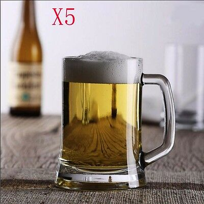 New 5X Capacity 660ML Height 155MM European Large Beer Wine Glass/Glassware %