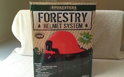 Forester ANSI forestry helmet,muff system noise reduction 21 decibels   #8577