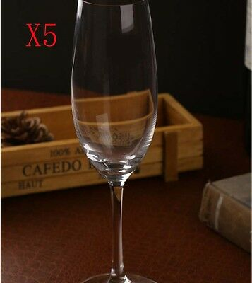 New 5X Capacity 228ML Height 223MM High Foot Champagne Wine Glass/Glassware %
