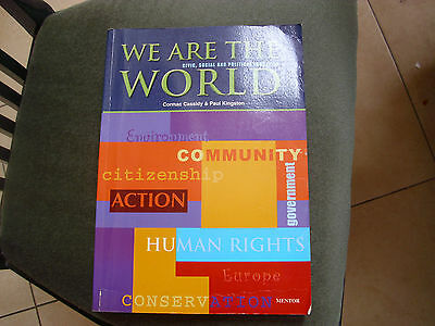 WE ARE THE WORLD, CSPE textbook, unused book