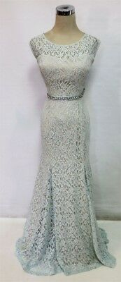 NWT Baby Blue and Silver Lace Prom Dress, size 9, Tag price $119