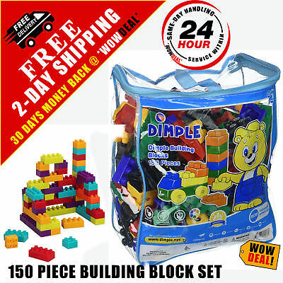 BUILDING BLOCK Set Toys Toddler Toy Train For Kids Plastic Storage ...