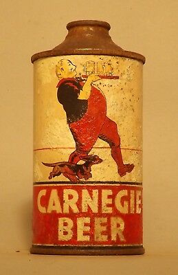 Rare!! Carnegie Low Profile Cone Top Beer Can - Pittsburgh, PA
