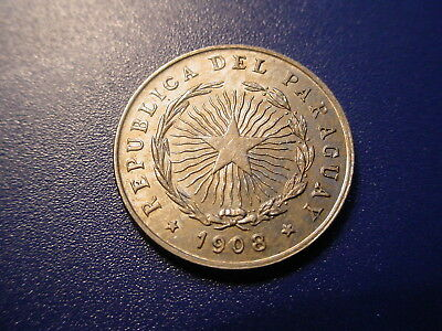 Paraguay 1908 10-Centavos In Near Uncirculated Condition