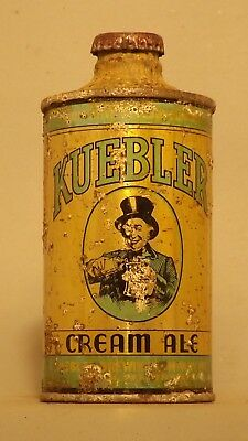Rare!! Kuebler Cream Ale J Spout Cone Top Beer Can - Easton, PA
