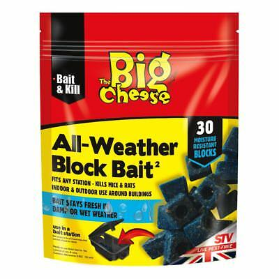 STV The Big Cheese All-Weather Rat Mouse Rodent Killer Poison 30 Block Bait