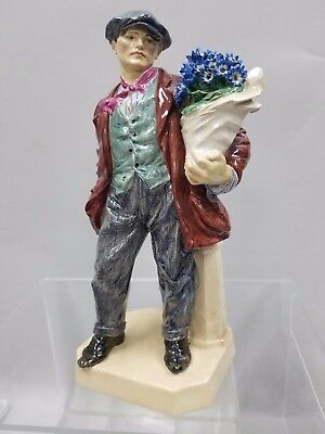 charles vyse figurine cinneraria boy brown suit blue point flowers c. 1923 # 2