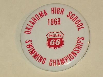 rare 1968 OKLAHOMA HIGH SCHOOL SWIMMING CHAMPIONSHIP ~PHILLIPS 66 ~ HARD TO FIND