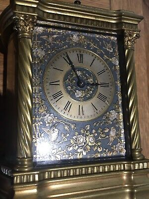French 8 day repeating Carriage Clock