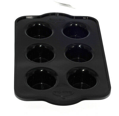 Silicone Mini Muffin Mould Cupcake NonStick Mold Baking Oven Pan Tray Black