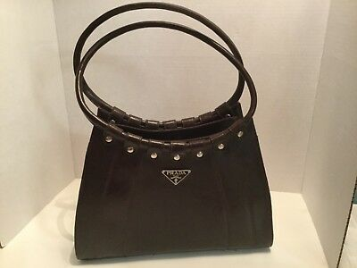 Authentic Prada Milano Dal 1913 Brown Soft Leather Handbag