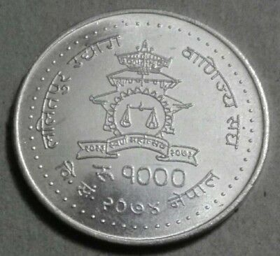 NEPAL: Newly Issued, 1000 Rs Coin, Golden Jubilee Year Commemorative-2018, UNC.