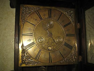 R HENDERSON SCARBOROUGH Hooded Wall Clock circa about 1700 .