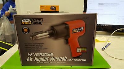 """Central Pneumatic Earthquake 1/2"""" Professional Air Impact Wrench #62746"""