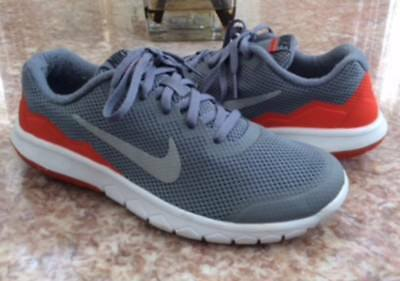 56e76cf8bf05 NIKE FLEX EXPERIENCE 4 (GS) Kids  Grey Orange Walking Shoes Sz 6.5Y ...