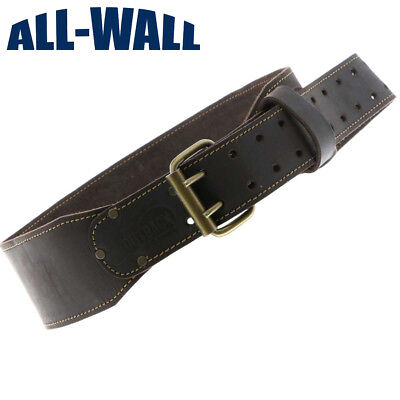 """OX Pro Oil-Tanned Saddle Leather 3"""" Wide Tool Belt - Heavy Duty w/Riveted"""