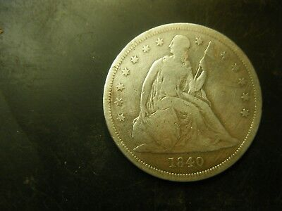 1840 Seated Liberty silver dollar first year of issue