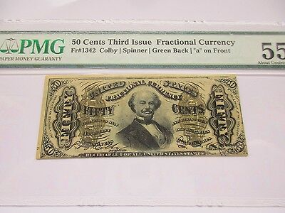 Fractional Currency FR 1342, 3rd Issue, 50 cents AU 55