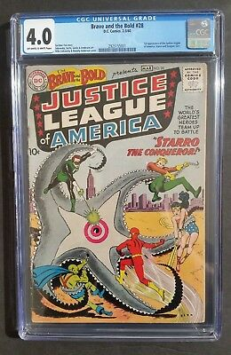 Brave & The Bold #28 • 1St Justice League • Cgc 4.0 • Batman Wonder Woman Supes
