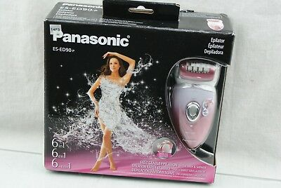 Panasonic ES-ED90-P Wet/Dry Epilator and Shaver, with Six Attachments OPEN BOX