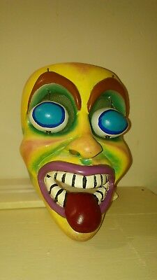Hand carved wood mask