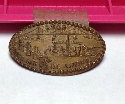 1940 Golden Gate International Exposition Treasure Island On A Wheat Penny