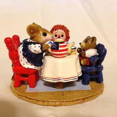 Wee Forest Folk M-177 - Tea For Three RWB - Whimsy Hollow SPECIAL