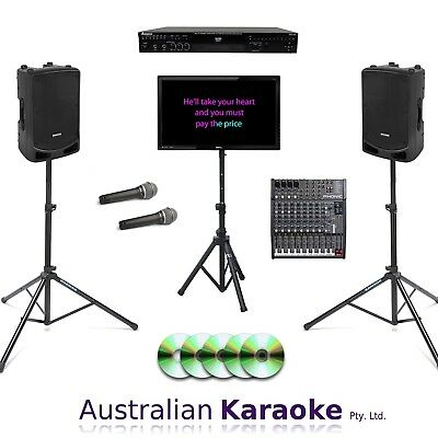 USED Complete Commercial CDG Karaoke System 1000W With 50 Discs