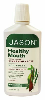 JASON Natural Products - Mouthwash Healthy Mouth Tea Tree & Cinnamon - 16 fl.