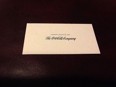 Coca-Cola Business Card 1960's Rare and Mint