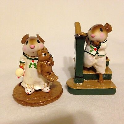 Wee Forest Folk M-217 Riser and M218 Mousey's Bunny Slippers - CH SPECIALS