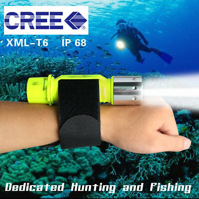 5000LM XM-L T6 LED Scuba Diving Flashlight 300M Torch Underwater Waterproof HOT