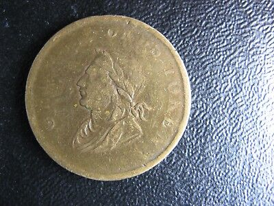LC-61A Brass Ireland 1834 token Lower Canada Bust and Harp BH-33 Wi 1830
