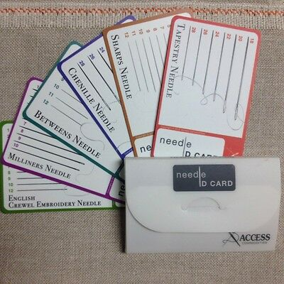 Needle ID Cards identify most all needles for handwork  Access Commodities