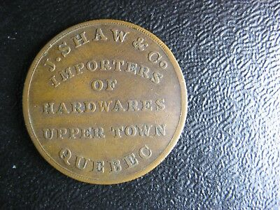 LC-19A2 J.Shaw & Co. Importers of Hardwares Lower Bas Canada Quebec Breton 565