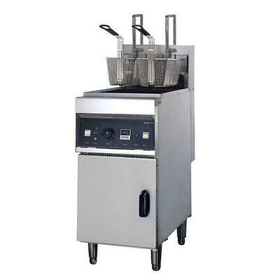 Deep Fryer Single 28L Vat, Fast w Cold Zone & Auto Lift Commercial Kitchen NEW