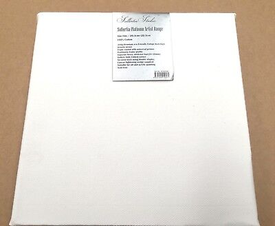 """Thick Artist 8"""" x 8"""" Blank Canvas Wooden Frame oil&acrylic painting 380g Cotton"""