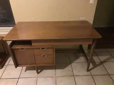 Mainline by Hooker Floating Desk Mid Century Modern