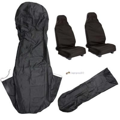 Waterproof Nylon Universal Car Seat Covers Front Heavy Duty Black Protectors UP