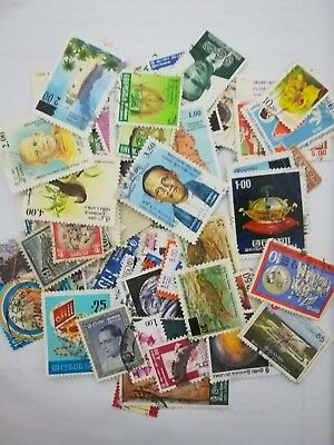 Lot 100 different off paper stamps ceylon/sri lanka used collection kiloware