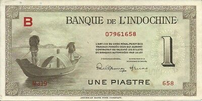 French Indo China 1 Piastre  1951
