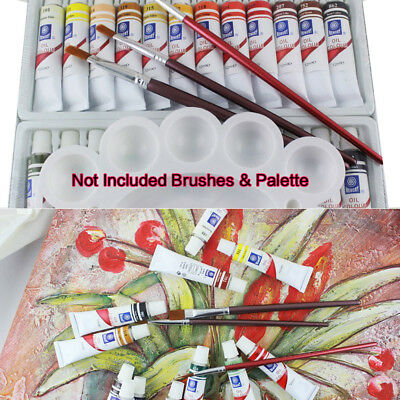 Oil Paint 24 PC Set Professional Student Artist 12ml Tubes Vibrant Colors