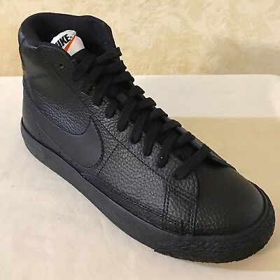 detailed look 26934 40603 YOUTH NIKE BLAZER Mid GS lifestyle Shoes Sneakers Leather Black 895850 001