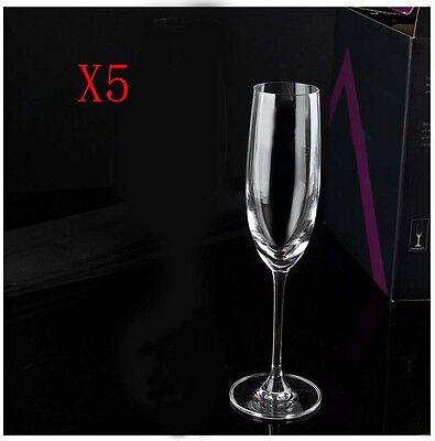 New 5X Capacity 180ML Height 227MM High Foot Champagne Wine Glass/Glassware %