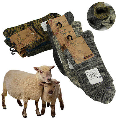 Real Wool Men Heavy Boot Socks Soft Quality Thicken Warm Cashmere Socks Lot