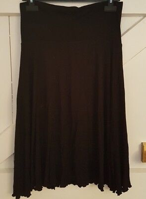 Size 8 Maternity Skirt MOTHERCARE Black Over Bump Great Condition Women's Ladies