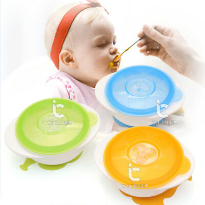 1pcs Soft Baby Kids Children Suction Cup Bowl Colorful Tableware Sucker Bowl New