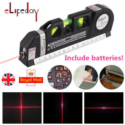 Multipurpose Laser Level Cross Line Self-Levelling Measurement Tool With Battery