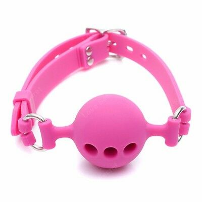 Full Silicone Open Mouth Ball Gag in Adult Game Bondage Restraints Sex Products