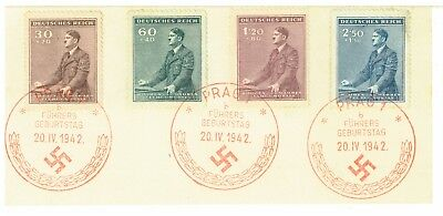Germany Bohemia & Moravia 1942 Hitler's 53rd Birthday First of Day issue card.